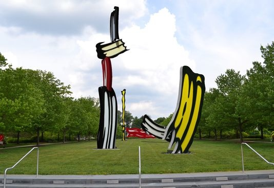 A rendering of what the Lichtenstein sculpture will look like. Photo: IMA