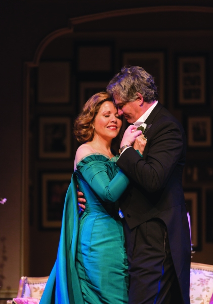 Renée Fleming and Douglas Sills in <em>Living on Love</em>. (<em>Photo by T Charles Erickson</em>)