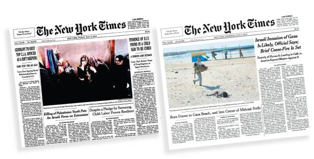 New york times coverage of israel