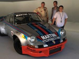 Jonkheer Gijsbert van Lennep with a factory prototype of the Porsche 2.8 RSR that he drove in Le Mans in 1973.