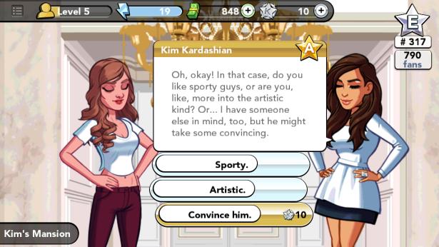 Just hanging out with Kim. (Photo via Kim Kardashian: Hollywood)