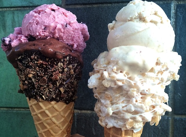 Emack & Bolio's is one of many New York ice cream shops that has become trendy this summer because of photogenic cones. (Photo by Emily Chestler)
