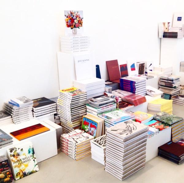 Pop-up bookstore at David Zwirner. (Photo Courtesy of David Zwirner)