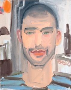 Nicola Trezzi portrait by Ann Craven. (Courtesy the artist and Maccarone inc., New York)