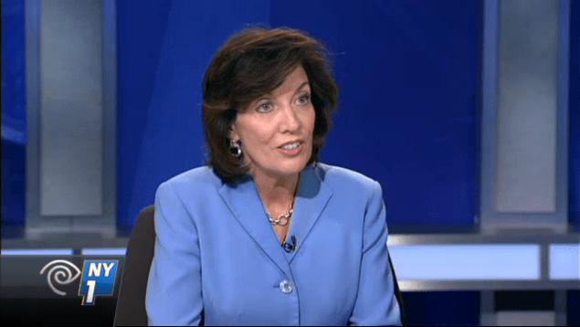 Kathy Hochul on Inside City Hall. (Screenshot: NY1)
