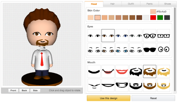 Even the bobbleheads have amazingly limited customization options. (Screengrab via Amazon)
