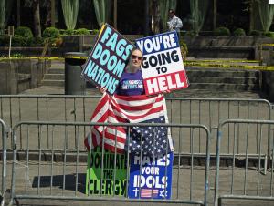A delightful WBC protester. (Wikipedia)