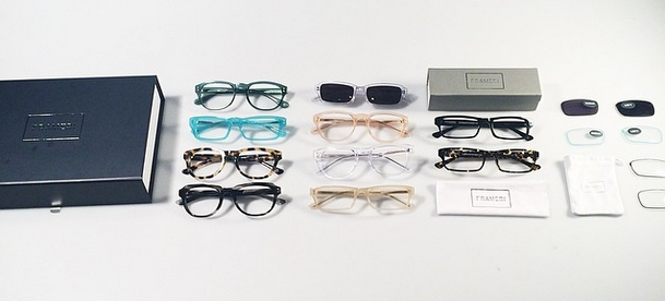 The lenses aren't terribly cheap or diverse, but the complete kit they send is pretty luxurious, and the frames are damn durable. (Photo via Frameri)