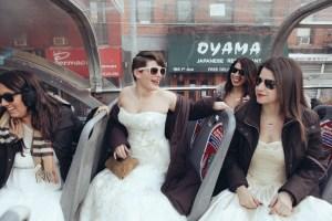 The Trash(ed) girls make their way through New York's neighborhoods. (Martina Micko)