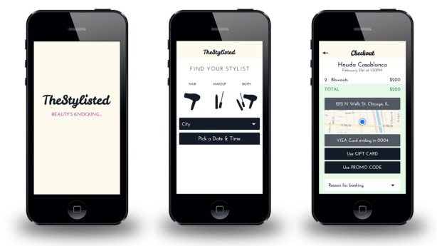 The new app's interface. (Screengrabs via TheStylisted)