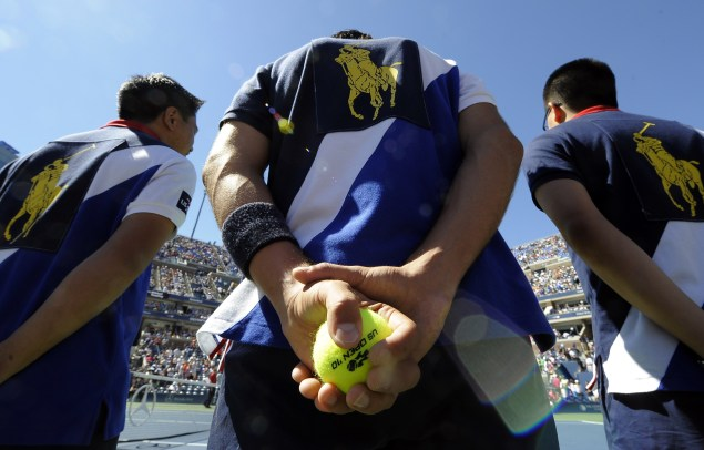 Ballboys at the US Open (Photo by TIMOTHY A. CLARY/AFP/Getty Images)