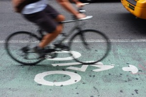 Postmates attracts collegians to fuel its New York courier crew. (Spencer Platt/Getty Images)