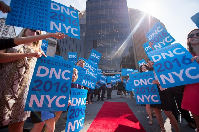 A scene from the DNC committee arriving in New York City. (Photo: NYC Mayor's Office)