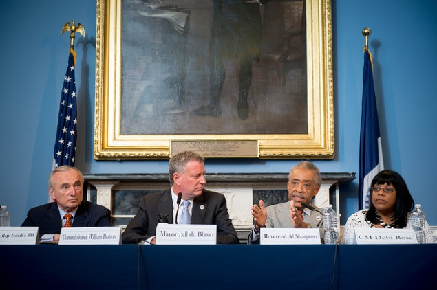 A City Hall round table addressing Eric Garner's death. (Photo: NYC Mayor's Office)