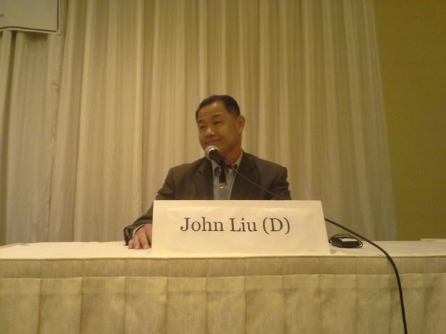 John Liu yesterday. (Photo: Ross Barkan)