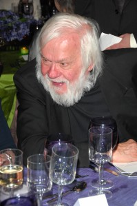 John Baldessari at dinner. (Photo courtesy Patrick McMullan)