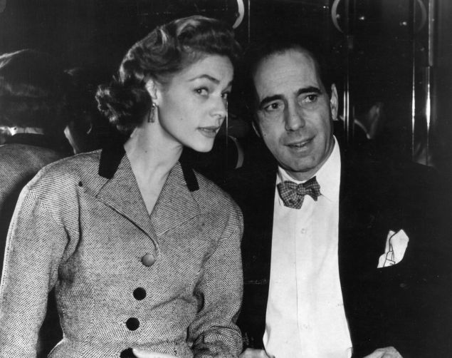Lauren Bacall with her husband, Humphrey Bogart (Photo by Victor Drees/Evening Standard/Getty Images)