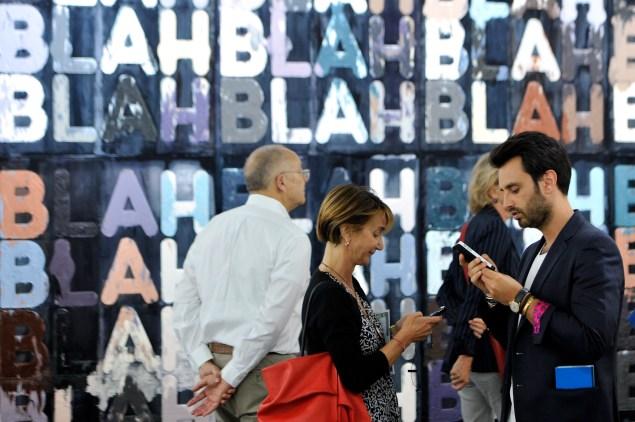 """Blah, Blah, Blah"" by Mel Bochner (Photo by Harold Cunningham/Getty Images)"