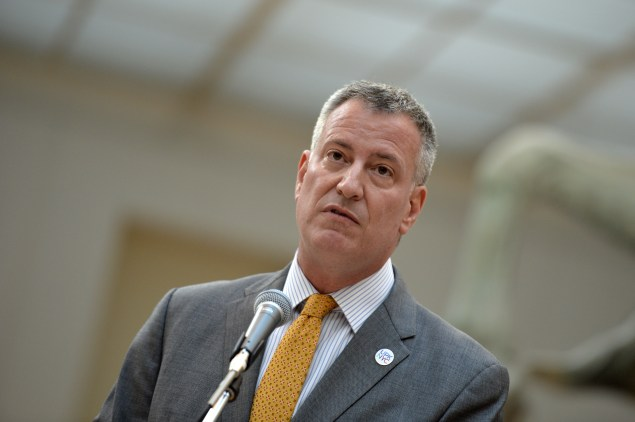 Mayor Bill de Blasio. (Photo: ANDREAS SOLARO/AFP/Getty Images)