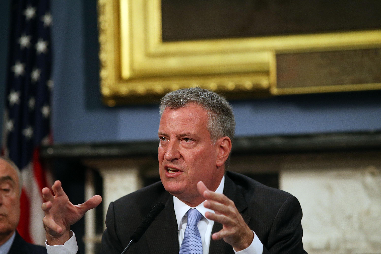 Mayor Bill de Blasio. (Photo: Spencer Platt/Getty Images)