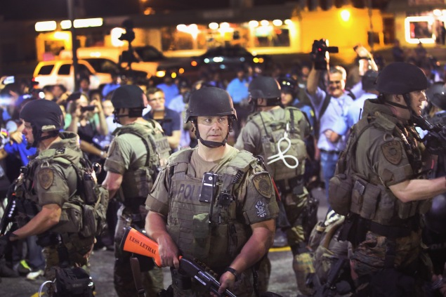 National guard troops called in to monitor unrest in Ferguson. (Photo: Scott Olson/Getty Images)