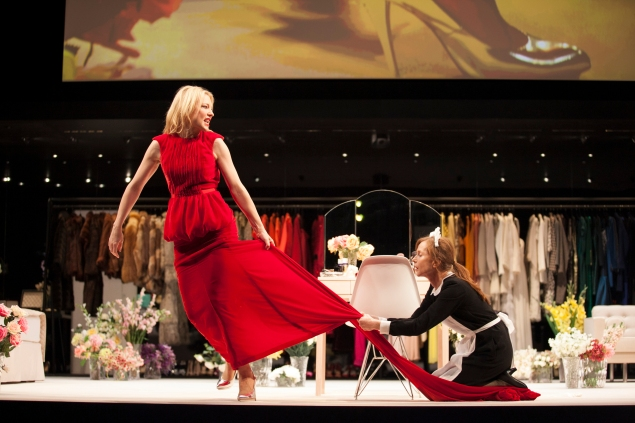 Cate Blanchett and Isabelle Huppert in The Maids. (Photo by Lisa Tomasetti)