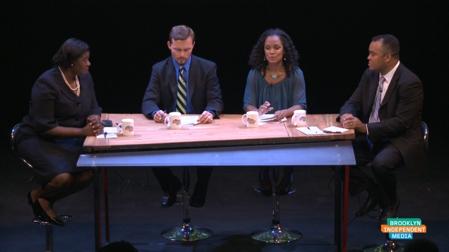 Erik Dilan debates Kimberly Council (Screengrab: Brooklyn Independent Media).