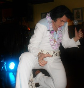 Lamar Peters performs as Elvis. (Photo courtesy of Mr. Peters)