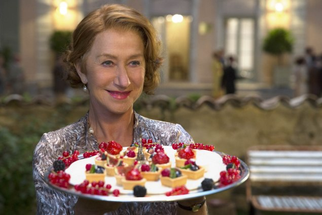 Heen Mirren as Madame Mallory in The Hundred-Foot Journey.