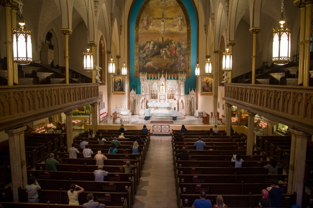 The interior of Holy Innocents (Photo by Kaitlyn Flannagan)