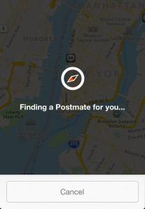 The Postmates app (Screenshot)