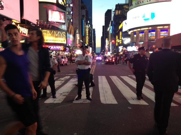 Protesters were greeted by heavy police force in Times Square. (Photo by Emma Hernandez)