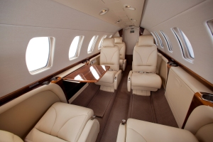 One of JetSuite's six-person private jets. (Jessica Ambats)