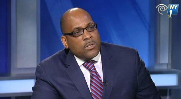 State Senate John Sampson. (Screengrab: NY1)
