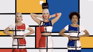 Katy Perry x Piet Mondrian. (Photo courtesy Idolator)