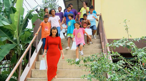 Kim, Peenk and the other orphans. (Photo via E! Online)