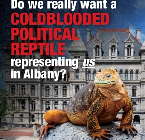 The front side of the Oliver Koppell-sponsored reptile mailer.