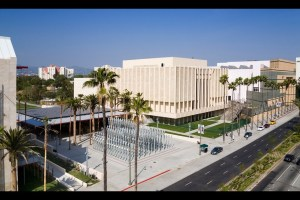 The Los Angeles County Museum of Art, with its Chris Burden installation. (Photo courtesy LACMA)