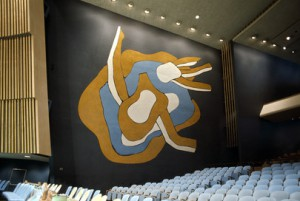 Fernand Leger Mural, East wall. (Courtesy United Nations)