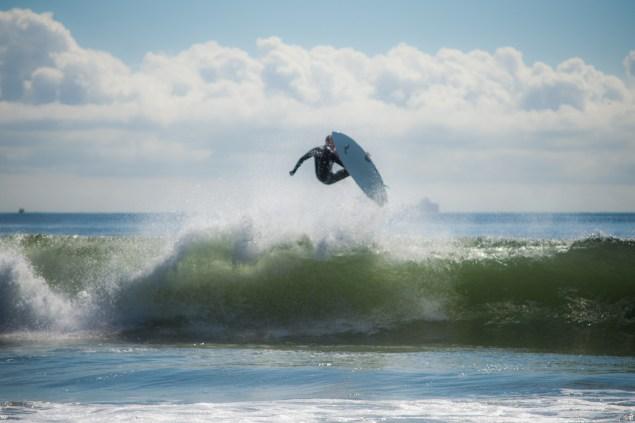 Michael Kololyan surfing Photo via Andreea Waters; NY Surfing Buddies)