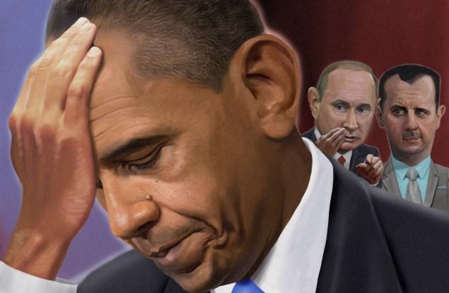 Obama Putin Assad