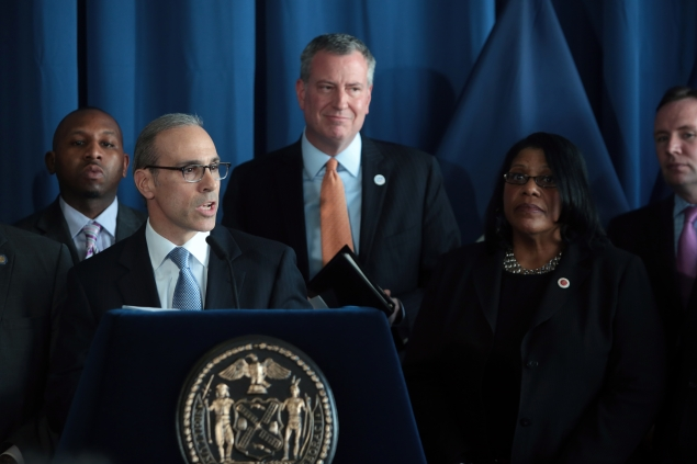 Staten Island Borough President James Oddo at a mayoral press conference earlier this year. (Photo: Ed Reed/NYC Mayor's Office)
