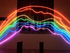 """""""Rainbows"""" by Sarkis. (Courtesy Cornucopia.)"""