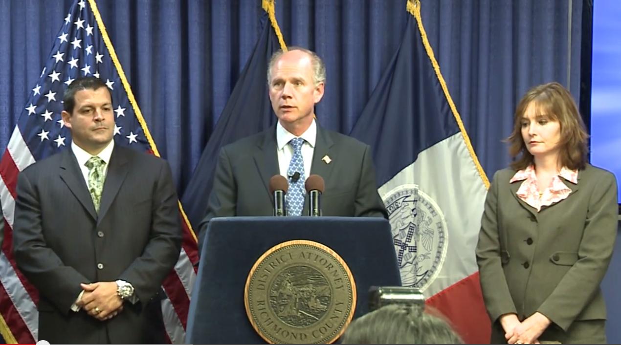 Staten Island District Attorney Daniel Donovan (Screenshot: Staten Island DA Youtube channel).