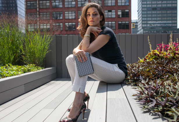Alexandra Chemla (Photo by Aaron Adler for New York Observer, Makeup by Sandy Linter for Lancôme at the Rita Hazan Salon)