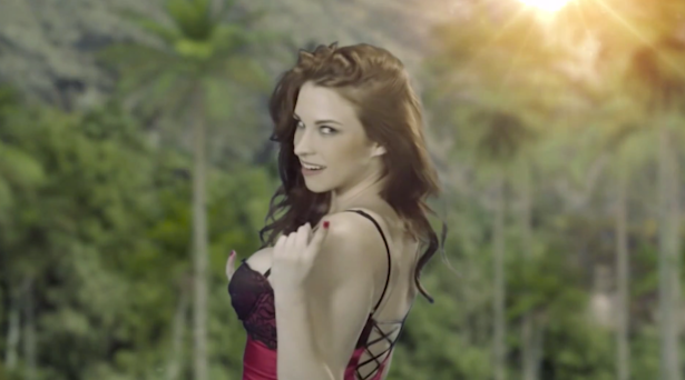 This is as raunchy as Jasmin's commercial gets. So why won't NBC Universal run that ad? (Screengrab via Jasmin)
