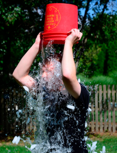 The ALS Ice Bucket Challenge. (Wikipedia)