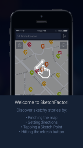 "The SketchFactor app alerts users to so-called ""sketchy"" neighborhoods"