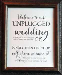Guests might feel slighted, no matter how fancy your fonts. (Photo via Marrygrams)