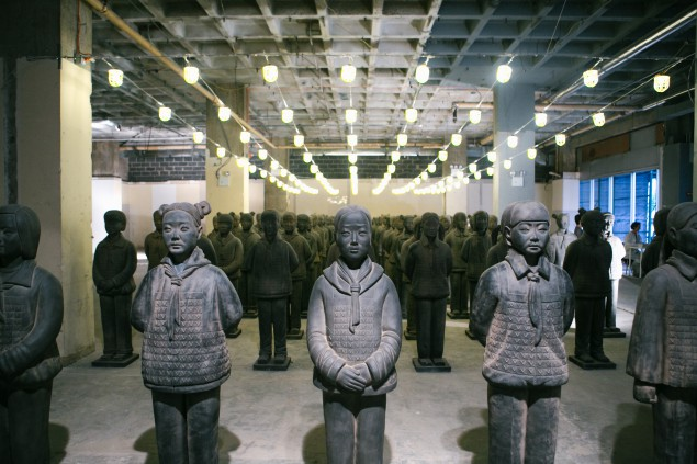 Prune Nourry's Terracotta Daughters at the China Institute.